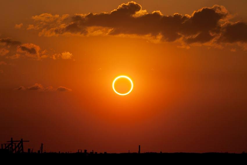 نحوه عکاسی از خورشید گرفتگی