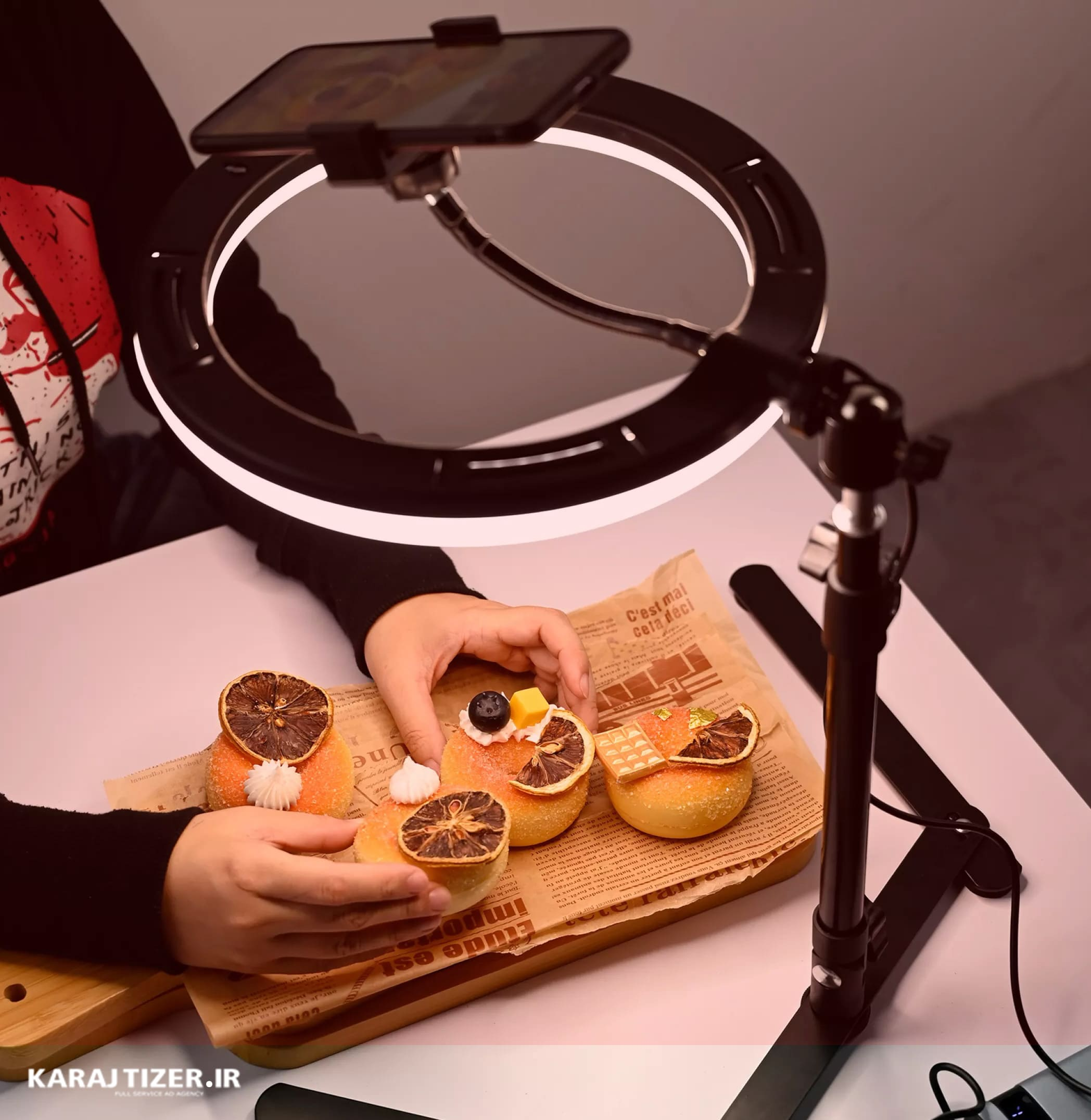 کاربرد رینگ لایت ها در عکاسی صنعتی