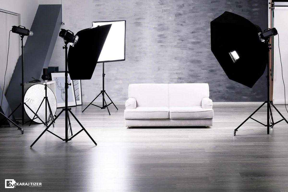 تجهیزات نورپردازی برای عکاسی صنعتی