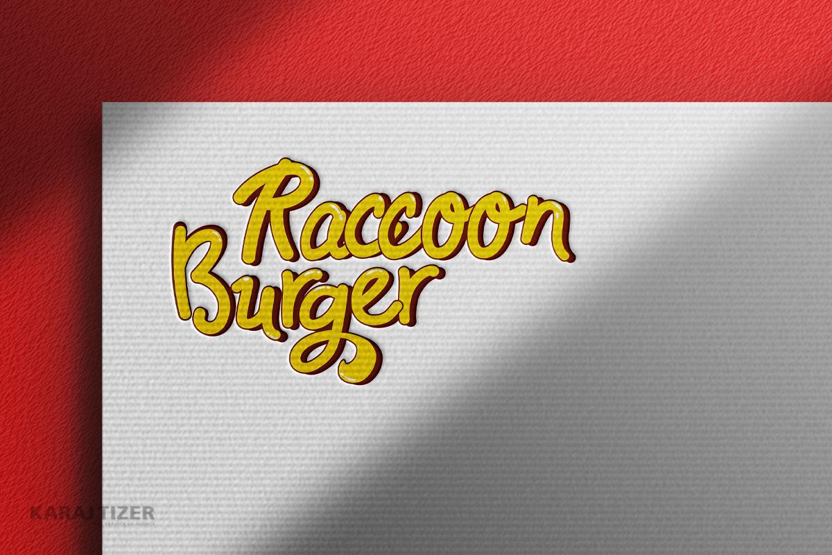 طراحی لوگو Racoon Burger